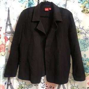 Anne Klein Open Front Plum Wool Jacket, size L